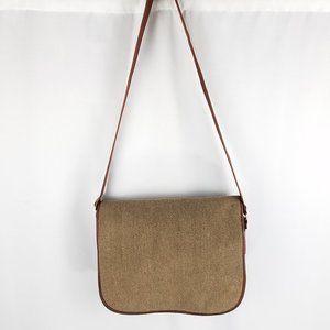 L.L Bean bag tweed cashmere/wool blend messenger